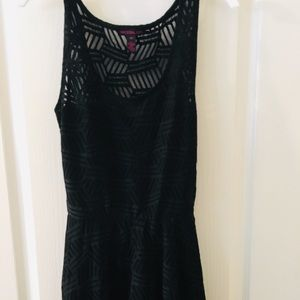 Material Girl Black Lacey dress